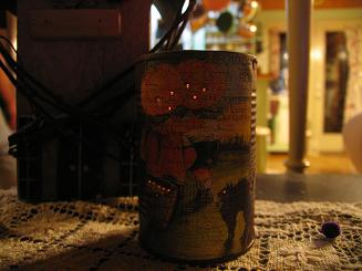 "<!-- AddThis Share Buttons above via filter on get_the_excerpt --> <div class=""at-above-post-arch-page"" data-url=""http://www.not2crafty.com/2008/08/rusted-halloween-candle-can/"" data-title=""Rusted Halloween candle can""></div>  This candle can is made from an ordinary can and some scrapbook paper.  It's very quick and easy.  Materials:   one ordinary can one sheet of scrapbook paper glue rust kit (I got mine at [...]<!-- AddThis Share Buttons below via filter on get_the_excerpt --> <div class=""at-below-post-arch-page"" data-url=""http://www.not2crafty.com/2008/08/rusted-halloween-candle-can/"" data-title=""Rusted Halloween candle can""></div><!-- AddThis Share Buttons generic via filter on get_the_excerpt --> <!-- AddThis Related Posts generic via filter on get_the_excerpt -->"
