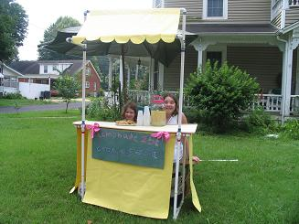 This lemonade stand is designed to be taken apart and placed in a bag so that it is completely portable. It's made from pvc pipe and is easy to make [...]
