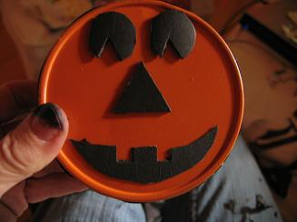 "<!-- AddThis Share Buttons above via filter on get_the_excerpt --> <div class=""at-above-post-arch-page"" data-url=""http://www.not2crafty.com/2008/10/pumpkin-with-interchangeable-face-made-from-metal-cannister/"" data-title=""Pumpkin with interchangeable face made from metal cannister.""></div>  I had a cookie cutter cannister that was old and rusted so I decided to paint it and create a Halloween toy for my 5 year old grandson.  I [...]<!-- AddThis Share Buttons below via filter on get_the_excerpt --> <div class=""at-below-post-arch-page"" data-url=""http://www.not2crafty.com/2008/10/pumpkin-with-interchangeable-face-made-from-metal-cannister/"" data-title=""Pumpkin with interchangeable face made from metal cannister.""></div><!-- AddThis Share Buttons generic via filter on get_the_excerpt --> <!-- AddThis Related Posts generic via filter on get_the_excerpt -->"