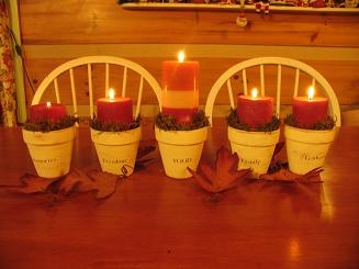 flower pot candle holders1 300x224 Flower pot candle holders