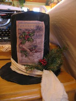 "<!-- AddThis Share Buttons above via filter on get_the_excerpt --> <div class=""at-above-post-arch-page"" data-url=""http://www.not2crafty.com/2008/11/vintage-look-snowman-hat/"" data-title=""Vintage look snowman hat""></div>    This is a great winter project and is really easy to make.  I used an old Christmas postcard that I copied onto fabric paper and then glued onto the hat. [...]<!-- AddThis Share Buttons below via filter on get_the_excerpt --> <div class=""at-below-post-arch-page"" data-url=""http://www.not2crafty.com/2008/11/vintage-look-snowman-hat/"" data-title=""Vintage look snowman hat""></div><!-- AddThis Share Buttons generic via filter on get_the_excerpt --> <!-- AddThis Related Posts generic via filter on get_the_excerpt -->"