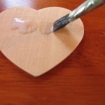 paint-glue-onto-wooden-heart
