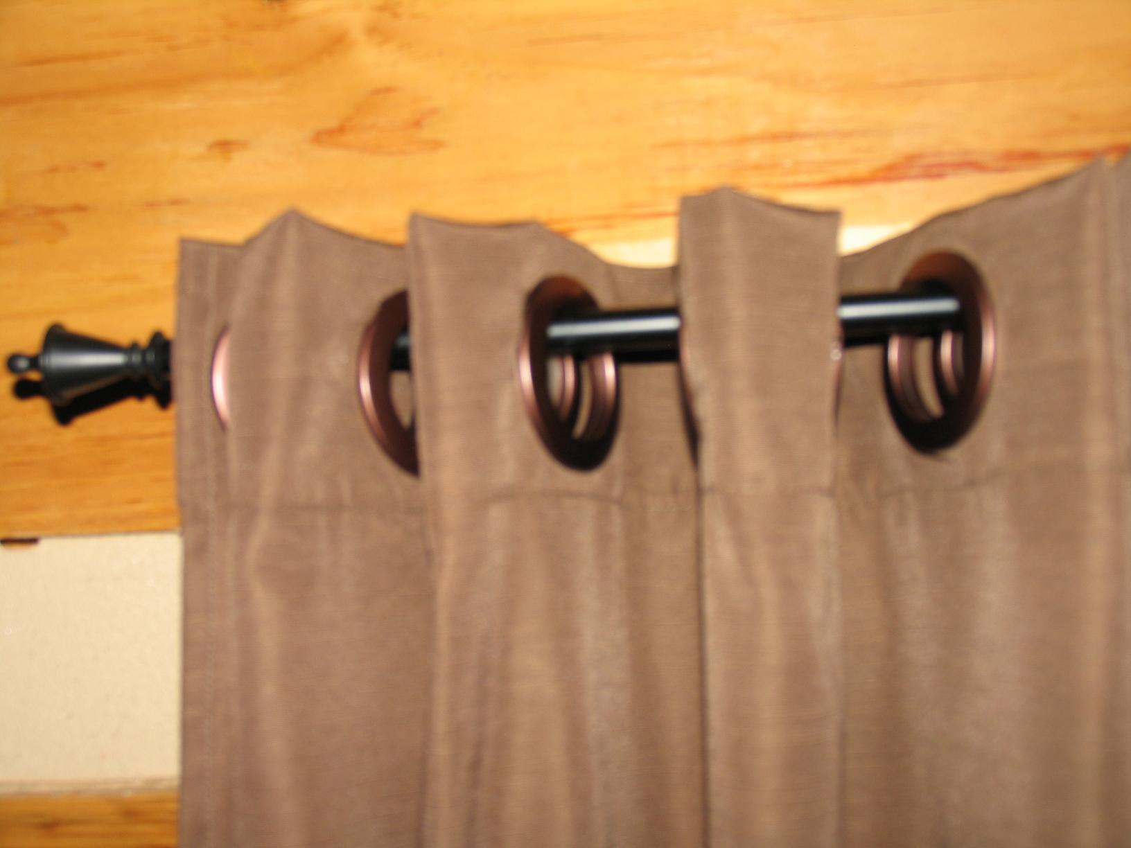 Curtain Over Front Door Curtain Valance with Rings