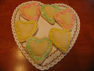 "<!-- AddThis Share Buttons above via filter on get_the_excerpt --> <div class=""at-above-post-homepage"" data-url=""http://www.not2crafty.com/2009/02/fabric-valentine-cookies-ribbon-frosting/"" data-title=""Fabric valentine cookies with ribbon frosting.""></div>   These cookies are made from fabric and ribbon that is gathered to look like frosting.  These are faster to make than real cookies ! Materials:  small piece of linen or muslin [...]<!-- AddThis Share Buttons below via filter on get_the_excerpt --> <div class=""at-below-post-homepage"" data-url=""http://www.not2crafty.com/2009/02/fabric-valentine-cookies-ribbon-frosting/"" data-title=""Fabric valentine cookies with ribbon frosting.""></div><!-- AddThis Share Buttons generic via filter on get_the_excerpt --> <!-- AddThis Related Posts generic via filter on get_the_excerpt -->"