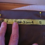 measure 5 inches from first mark and repeat all the way across 150x150 Easy to make curtains with big snap in rings for hanging.