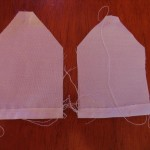 narrow hem bottom of tea bags