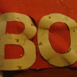 cut letters out of felt