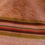stitch along edges of ribbon