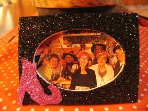 glitter pic frame