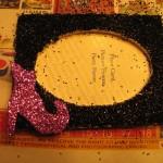 glue onto frame
