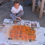 spray paint t's