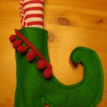 elf shoe napkin holder