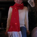 lighted scarf for holiday fun