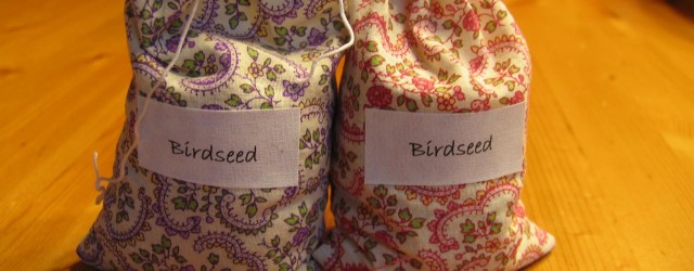 I made these little fabric bird seed bags for my daughters upcoming country wedding.  I'm going to put them in a basket and have the little girls hand them out [...]