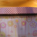 apply trim as shown to bottom of paper strip 150x150 Easy to make paper lanterns for baby showers