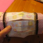 glue ends together as shown 150x150 Easy to make paper lanterns for baby showers