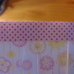i attached paper strip with hot glue at top 150x150 Easy to make paper lanterns for baby showers