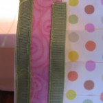 stitch ribbon to both edges of top trim piece 150x150 Easy to make paper lanterns for baby showers