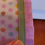 stitch ribbon to top of trim piece 150x150 Easy to make paper lanterns for baby showers