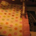 stitch trim piece to bottom of lantern1 150x150 Easy to make paper lanterns for baby showers