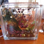 add berry sprig 150x150 Decorate a glass block for holidays and special occasions.
