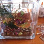 put pick in block 150x150 Decorate a glass block for holidays and special occasions.