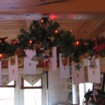 hang candy canes at bottom to mark the days until christmas
