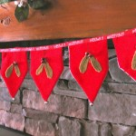 close up of velvet garland