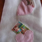 close up of post card heart pockets