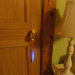 hang the glow stick on the door to guide the tooth fairy to the right room