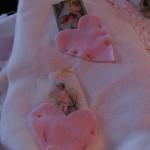 close up of heart pockets