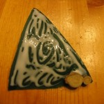 apply glue and then add wood pieces 150x150 Christmas tree ornaments made with wood pieces