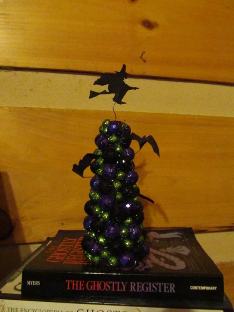 Glittery Halloween Tree Made With Vase Filler Foam Balls
