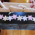 "<!-- AddThis Share Buttons above via filter on get_the_excerpt --> <div class=""at-above-post-arch-page"" data-url=""http://www.not2crafty.com/2012/12/snowflake-table-runner-felt/"" data-title=""Snowflake table runner made from felt""></div>    This runner is made from felt and fastened together with scrapbook paper fasteners. This is easy to make and can be taken apart for easy storage. Materials:  felt squares in different [...]<!-- AddThis Share Buttons below via filter on get_the_excerpt --> <div class=""at-below-post-arch-page"" data-url=""http://www.not2crafty.com/2012/12/snowflake-table-runner-felt/"" data-title=""Snowflake table runner made from felt""></div><!-- AddThis Share Buttons generic via filter on get_the_excerpt --> <!-- AddThis Related Posts generic via filter on get_the_excerpt -->"