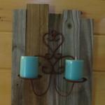 rustic candleholder