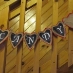 close up of heart candy banner