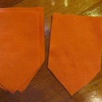 cut out orange flags