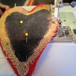 stitch around edge of heart
