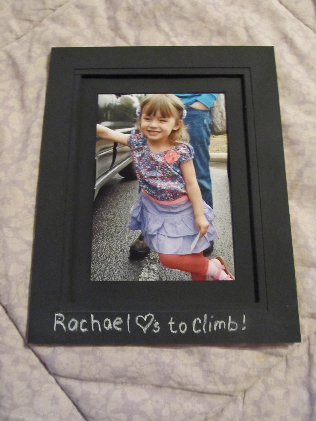 Paint your matte frames with chalkboard paint