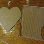 cut out one heart from cardboard and use it to trace the rest