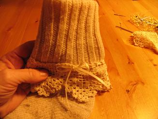 """<!-- AddThis Share Buttons above via filter on get_the_excerpt --> <div class=""""at-above-post-cat-page"""" data-url=""""https://www.not2crafty.com/2008/01/winter-socks-with-lace-and-ribbon/"""" data-title=""""Winter socks with lace and ribbon""""></div>  This is an easy way to dress up your thick wool winter socks and make them more fun to wear. There are so many different kinds of lace and ribbonavailablethat [...]<!-- AddThis Share Buttons below via filter on get_the_excerpt --> <div class=""""at-below-post-cat-page"""" data-url=""""https://www.not2crafty.com/2008/01/winter-socks-with-lace-and-ribbon/"""" data-title=""""Winter socks with lace and ribbon""""></div><!-- AddThis Share Buttons generic via filter on get_the_excerpt --> <!-- AddThis Related Posts generic via filter on get_the_excerpt -->"""
