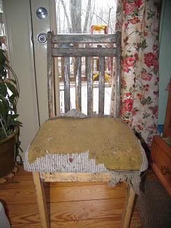 """<!-- AddThis Share Buttons above via filter on get_the_excerpt --> <div class=""""at-above-post-arch-page"""" data-url=""""https://www.not2crafty.com/2008/03/give-an-old-beat-up-chair-new-life-with-paint-and-fabric/"""" data-title=""""Give an old beat up chair new life with paint and fabric.""""></div>  I love to rescue junk that is being thrown out and give it new life. My son threw thischair out and it sat outside in the weather forquite awhile so [...]<!-- AddThis Share Buttons below via filter on get_the_excerpt --> <div class=""""at-below-post-arch-page"""" data-url=""""https://www.not2crafty.com/2008/03/give-an-old-beat-up-chair-new-life-with-paint-and-fabric/"""" data-title=""""Give an old beat up chair new life with paint and fabric.""""></div><!-- AddThis Share Buttons generic via filter on get_the_excerpt --> <!-- AddThis Related Posts generic via filter on get_the_excerpt -->"""